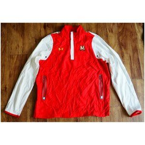 NEW Under Armour Shell Jacket Red White Maryland